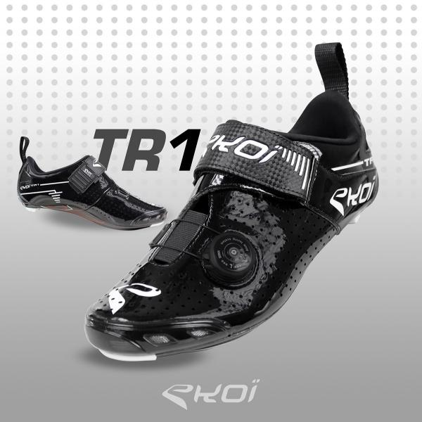 Zapatillas de triatlón EKOI TR1 LD carbono negras