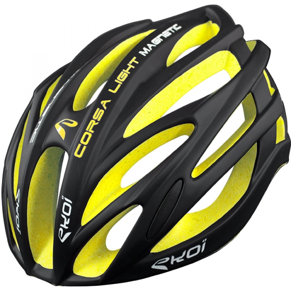 Casco EKOI CORSA LIGHT negro y amarillo