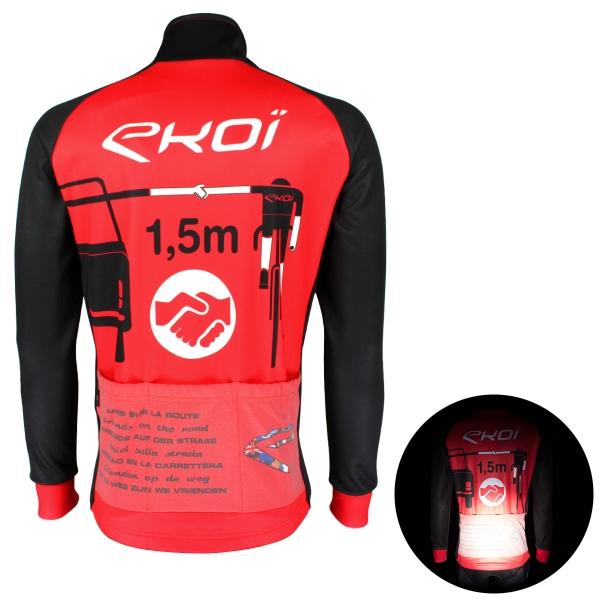 Chaqueta térmica EKOI PROTECT Rojo Negro