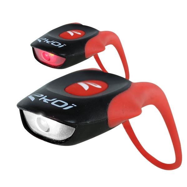 Pack 2 Micro Faros EKOI LED Delante Detrás