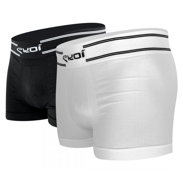 Pack EKOI RUN 2 Boxers Blanco Negro