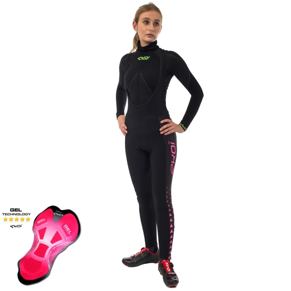 Culotte bike largo EKOI LADY Gel Triángulo Rosa