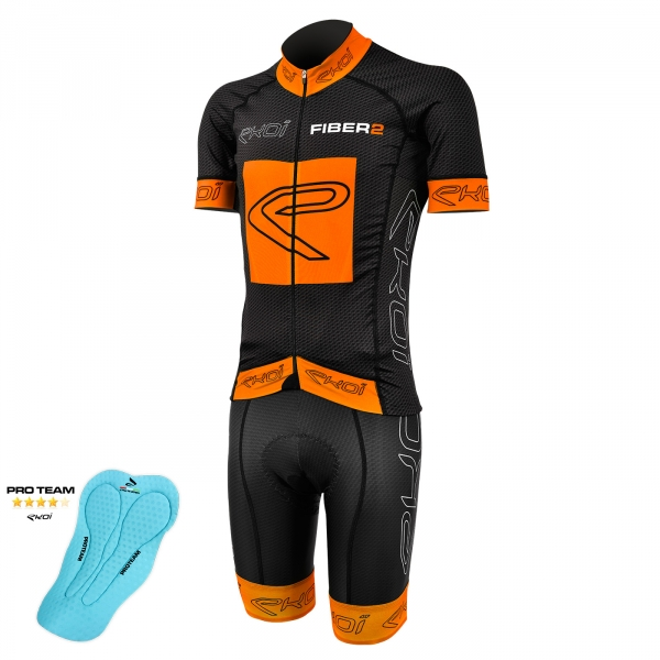 Maillot EKOI Carbon Fiber 2 Orange Fluo