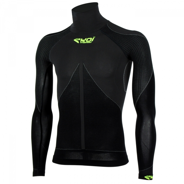 Top EKOI ML TECH 3 Cuello alto Negro