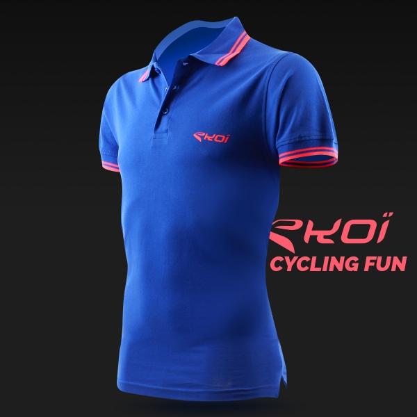 Polo men EKOI Cycling Fun Azul