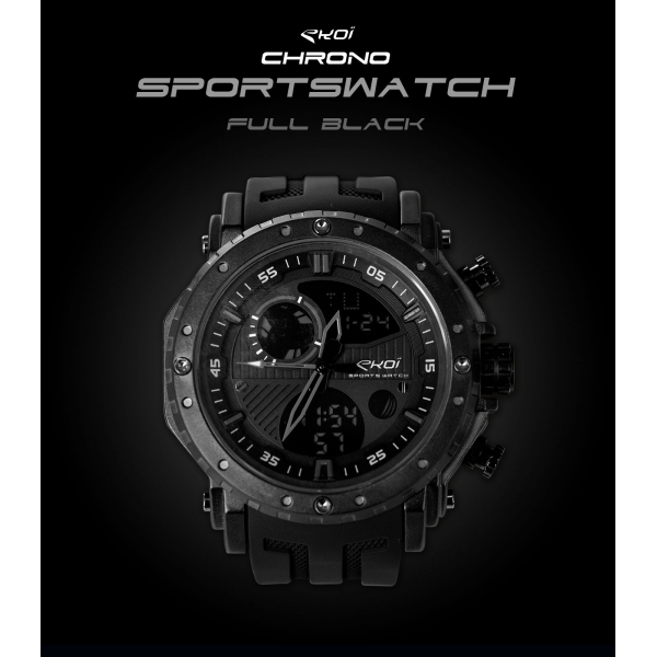 Montre EKOI Sportswatch Full Black